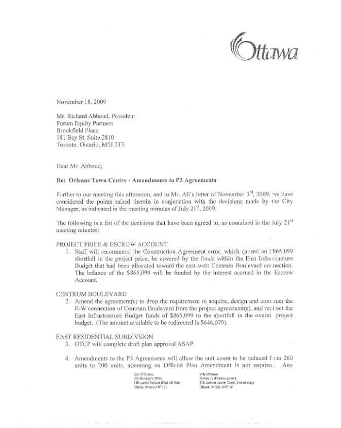 ORLEANS ARTS CENTRE AND TOWN CENTRE - PROPOSED AMENDMENTS TO ...