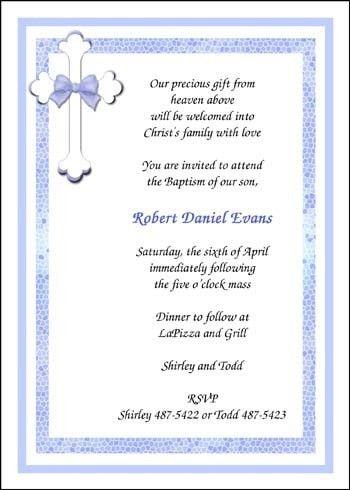 Baptism Invitations Wording | christmanista.com
