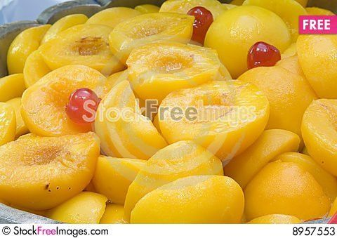 Bol With Almibared And Natural Peaches - Free Stock Photos ...