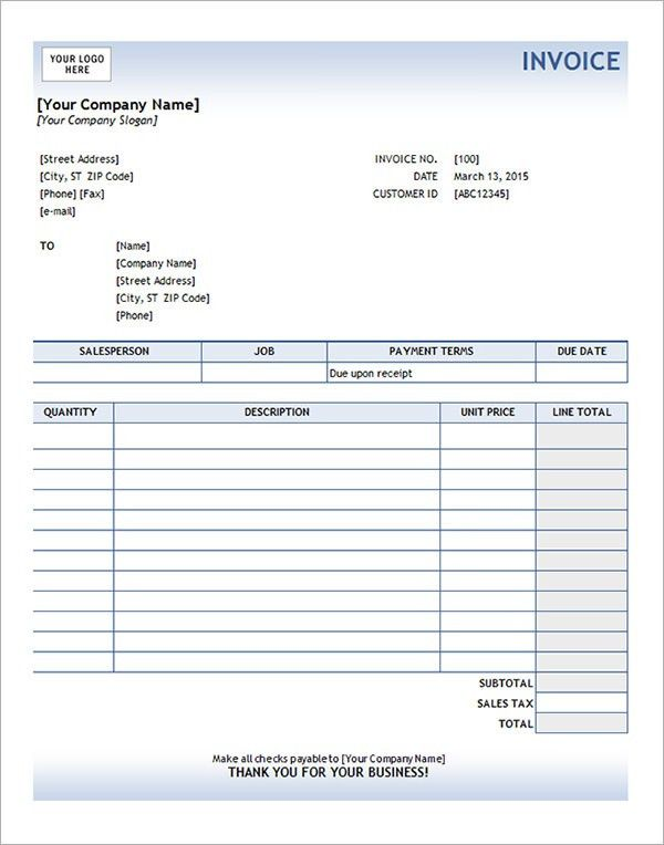 Service Invoice - 28+ Download Documents in PDF, Word, Excel, PSD