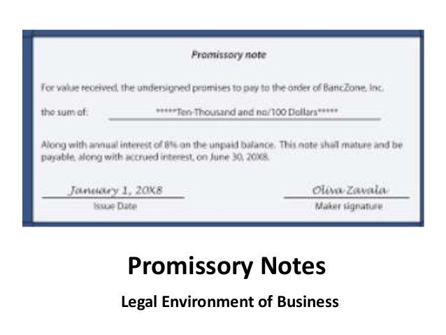 Promissory Notes. Discharge Debt & The Promissory Note - Part 1 Of ...