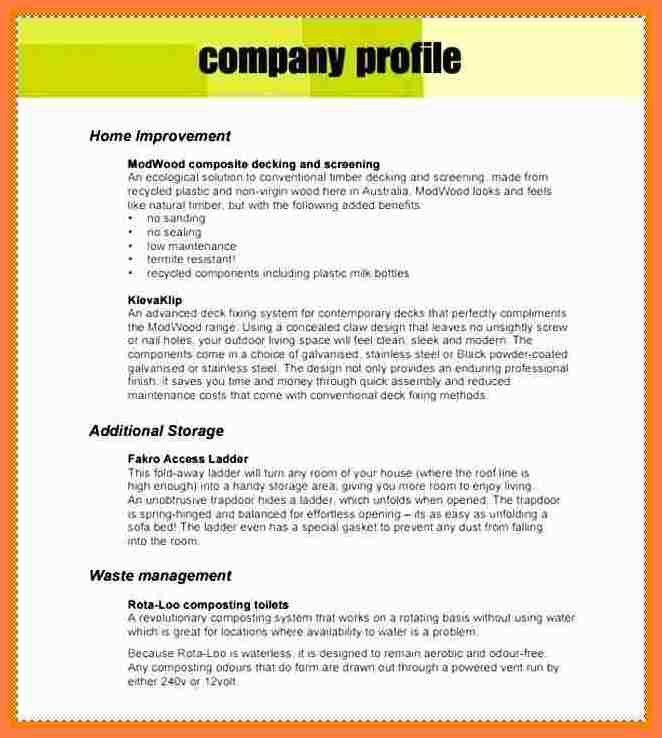 3+ sample company profile template pdf | Company Letterhead