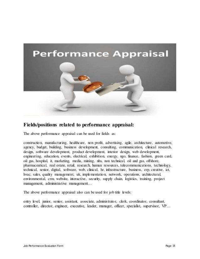 Infrastructure project manager perfomance appraisal 2