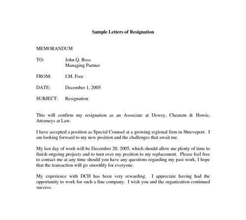 Resignation Letter Format: Continue Working At Company Resignation ...