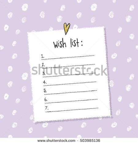 Wish List Stock Images, Royalty-Free Images & Vectors   Shutterstock