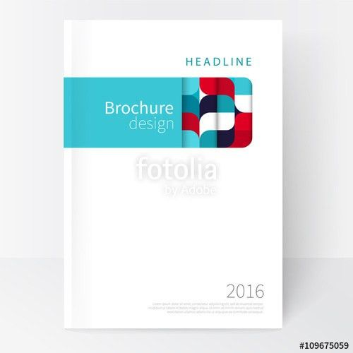 Red, white and blue Business brochure cover template. cover design ...