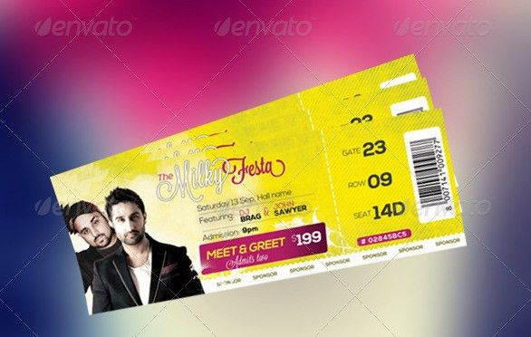 9+ Entry Ticket Templates - Free PSD, AI , Vector EPS Download ...