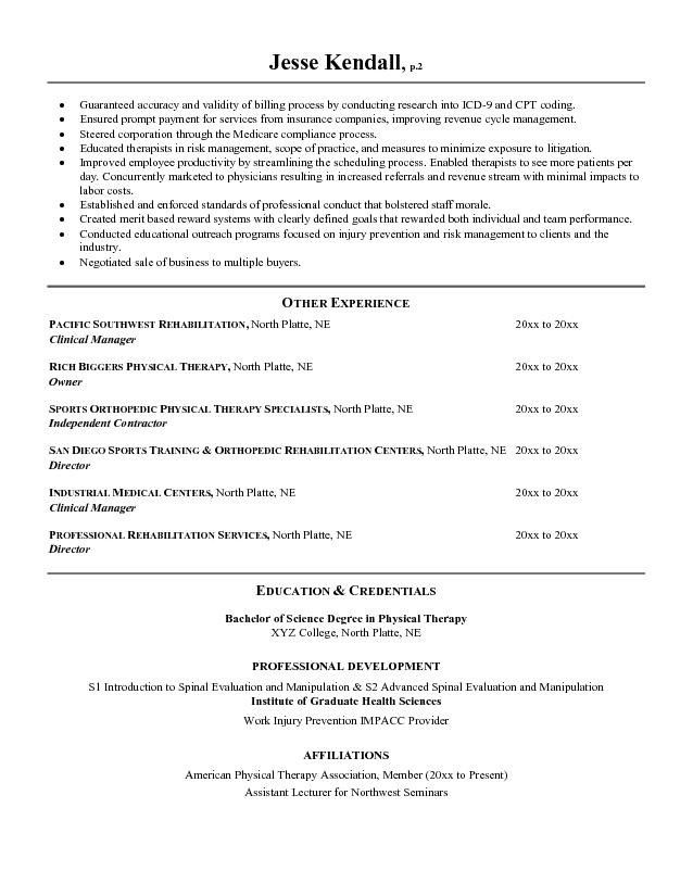 physical therapy aide sample resume wharton resume template - Wharton Resume Template