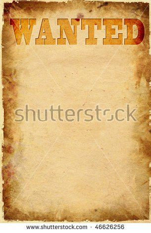 Wanted Poster Tacked On Wood Boards Stock Photo 236491696 ...