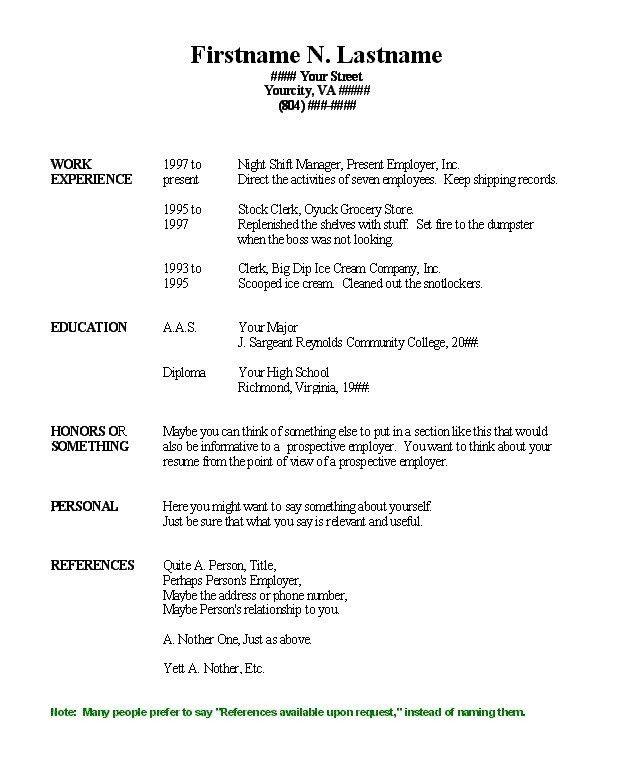 free resume printable templates 30 free professional resume