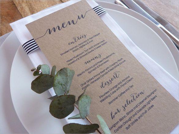 45 best Menu/Tent Cards images on Pinterest | Wedding menu ...