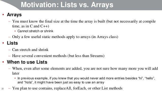 Java 8 Programming Tutorial: Lists (ArrayList and LinkedList), Maps, …