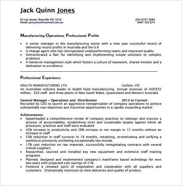Download Operations Manager Resume | haadyaooverbayresort.com