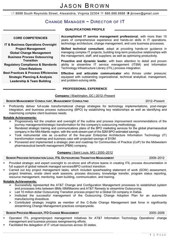 Itil Change Coordinator Resume - Corpedo.com
