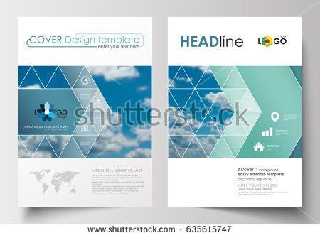 Business Templates Brochure Magazine Flyer Booklet Stock Vector ...