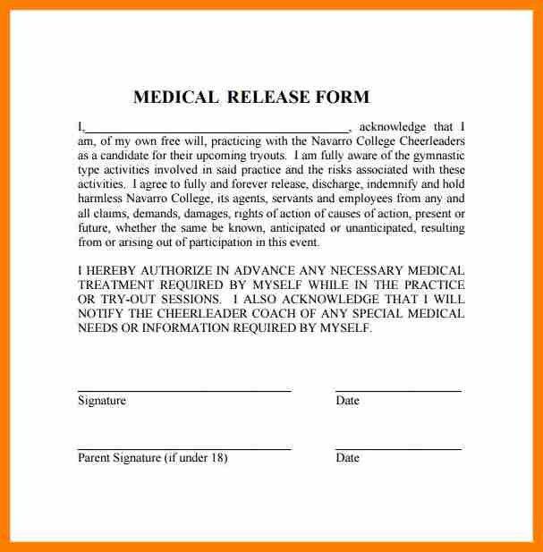7+ simple medical release form | sephora resume