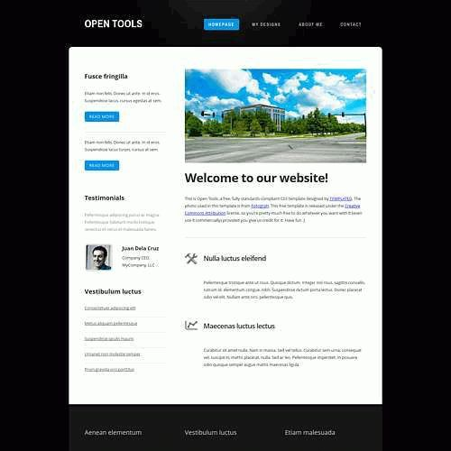 Free website templates and free website HTML themes
