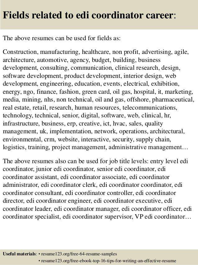edi coordinator top 8 edi coordinator resume samples 1