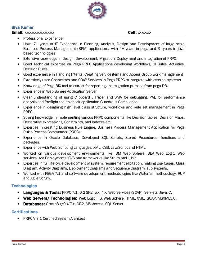 Obiee 11g Sample Resume - Ecordura.com