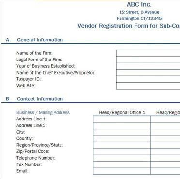 Vendor Registration Form