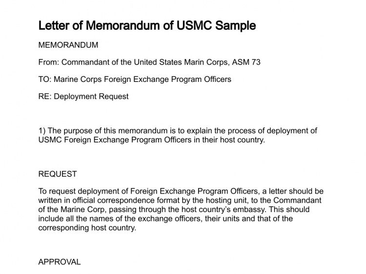 Letter of Memorandum