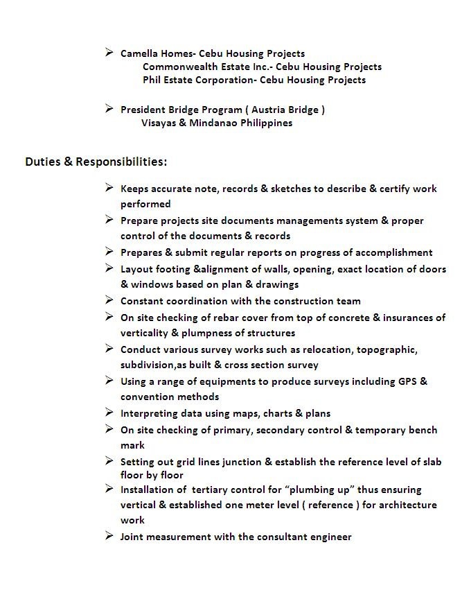 Land Surveyor Resume / Sales / Surveyor - Lewesmr
