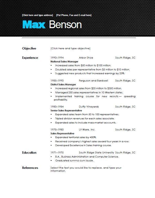 Great Marvelous Sample Of Modern Resume Interesting   Resume CV Cover Letter