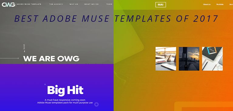 Best Adobe Muse Templates for portfolio - Sketchthemes