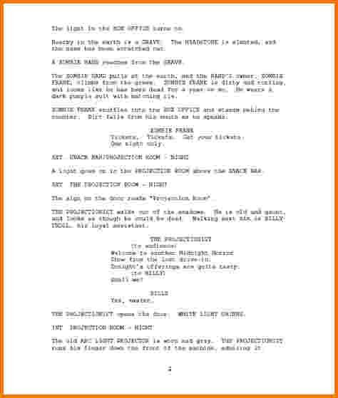 6+ film script format example | Financial Statement Form