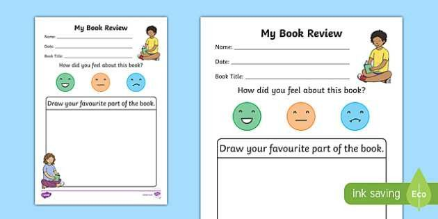 My Book Review Writing Worksheet - book review, book review