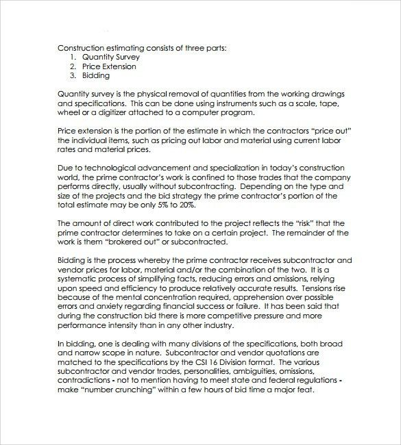 Sample Bid Proposal Template - 6+ Free Documents In PDF, Word