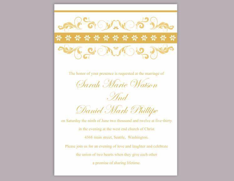 DIY Wedding Invitation Template Editable Word File Instant ...