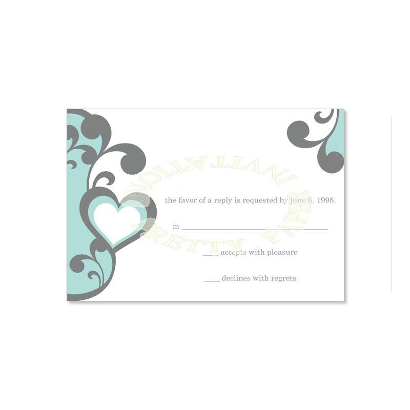 Blue & Gray RSVP Card Templates - Elena Air Do It Yourself ...