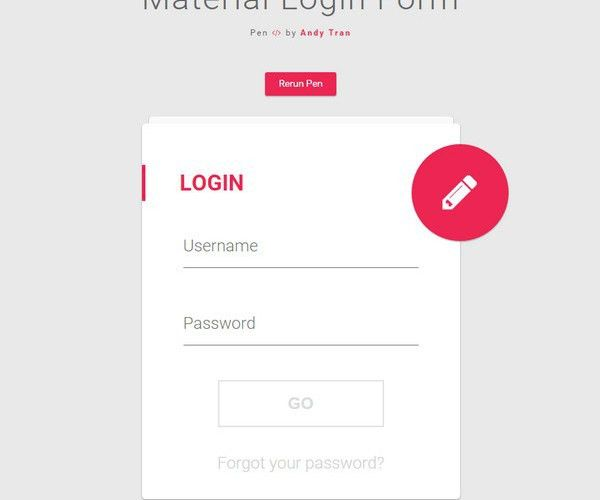 35+ Free CSS3 Login/Signup Form Templates