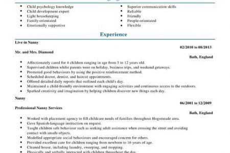resume examples personal services sample resumes livecareer ...