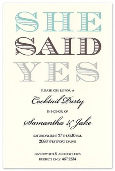 Free Engagement Party Invitations | cimvitation