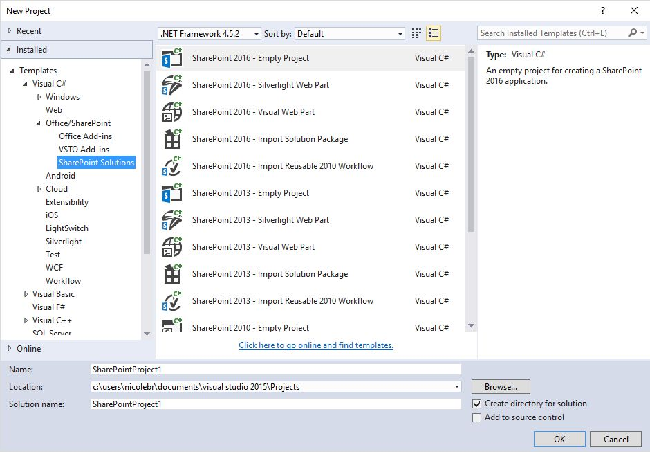 Latest Microsoft Office Developer Tools for Visual Studio 2015 ...