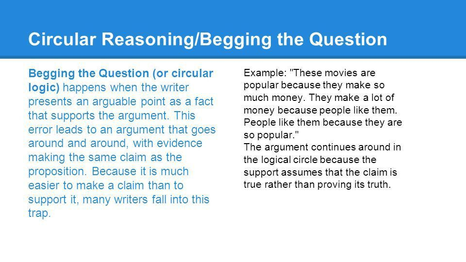 An Introduction to Logic & Logical Fallacies Beginning Composition ...