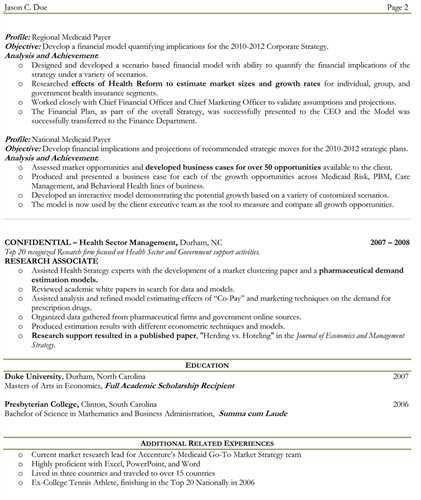 Article Title: One or two page resume?