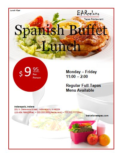 Lunch Flyer Template | Microsoft Word Templates