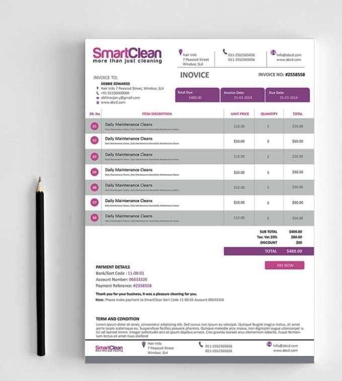Design your creative invoice by Abhiranjan