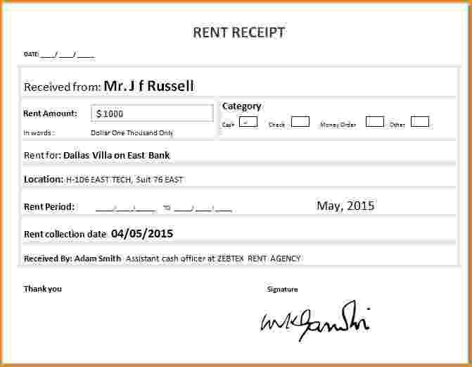 4+ how to fill out a rent receipt | bibliography format