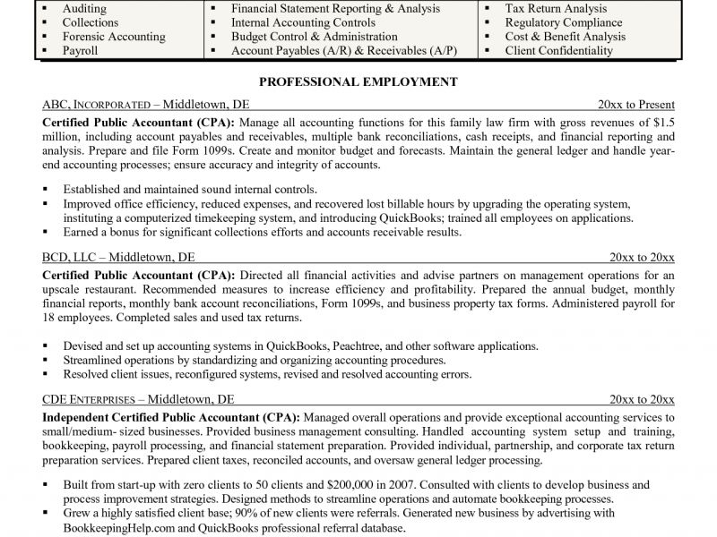 Forensic Auditor Sample Resume Free Forensic Accountant Resume