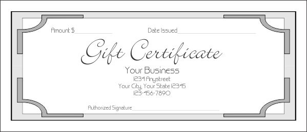 GIFT CERTIFICATE TEMPLATE - FreeTemplate