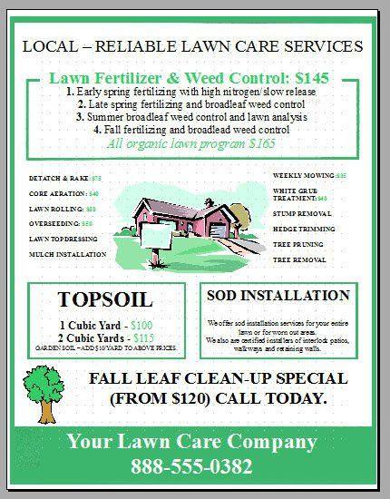 Lawn Care Flyer Template | Template Design