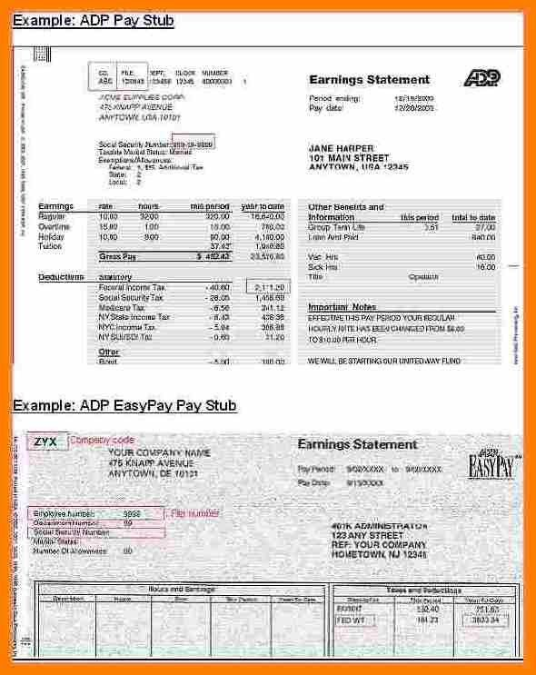 10+ adp pay stub template | resume pictures