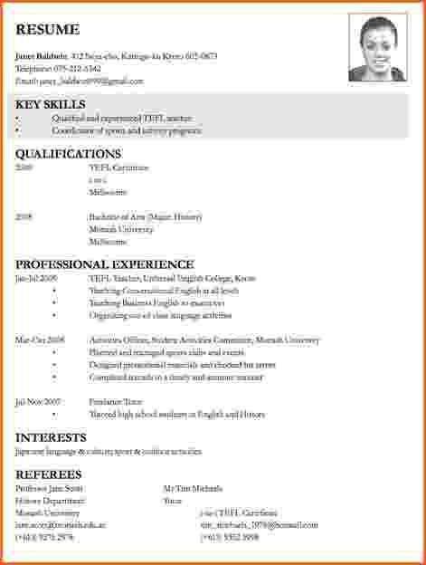 Sample Resume For Applying Teaching Job - Best Resume Collection