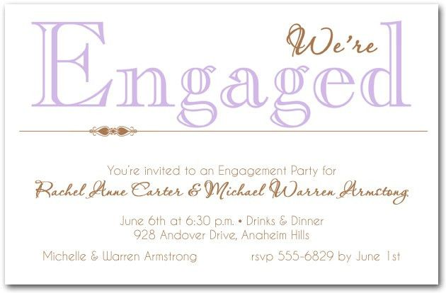 Lilac Engagement Party Invitations