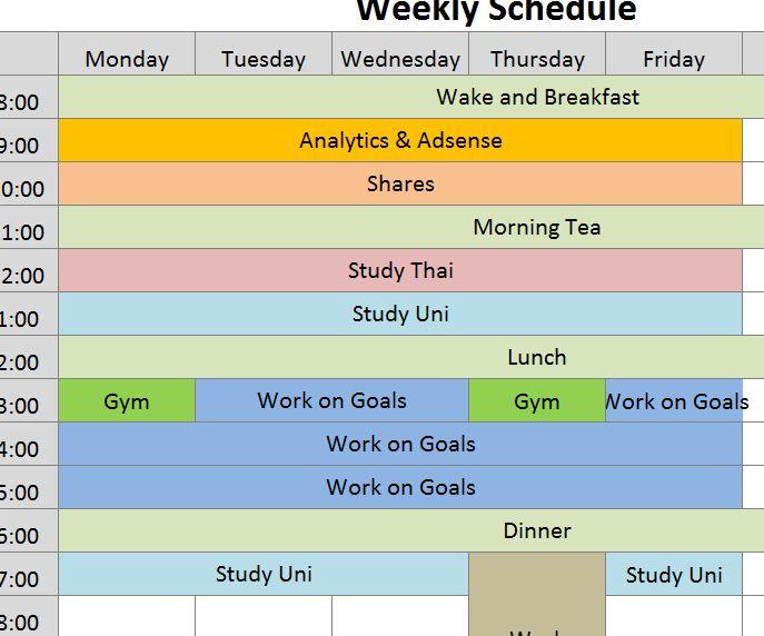 2016 Weekly Social Media Calendar - My Excel Templates