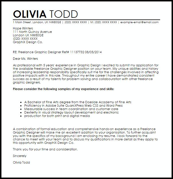 Good Cover Letter For Freelance Job 30 In Cover Letter For Office ...